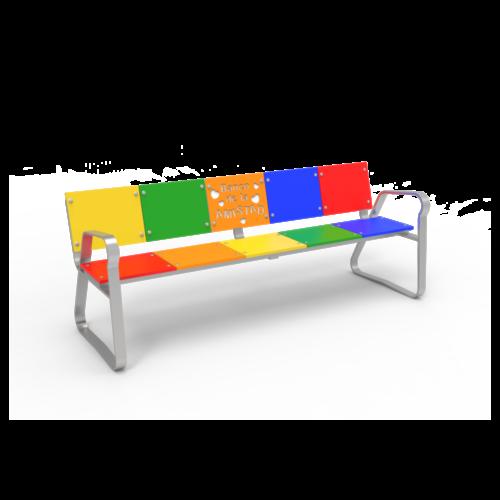 Mobiliario Urbano Banco de la Amistad Multicolor