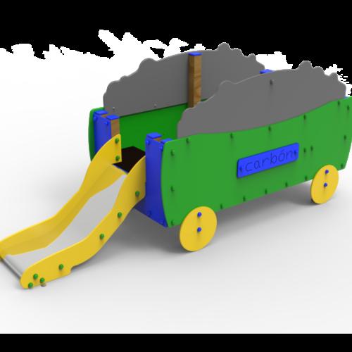 Conjuntos Guardería Vagón Con Tobogán