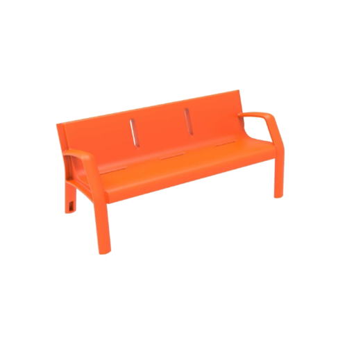 Mobiliario Urbano Banco Alvium Naranja