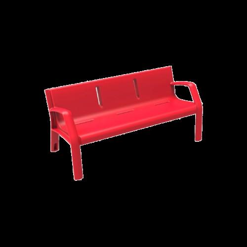 Mobiliario Urbano Banco Alvium Rojo