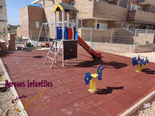 Caucho para parques infantiles
