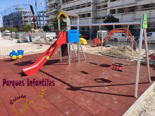Conjunto para parques infantiles