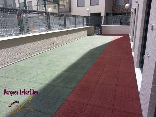 Losetas de caucho pasillo colores