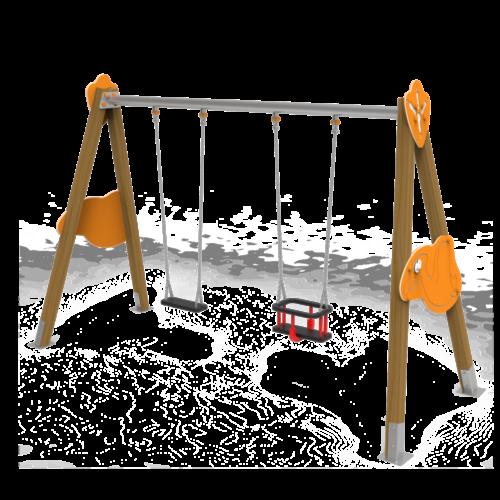 Columpio Volador asientos mixtos